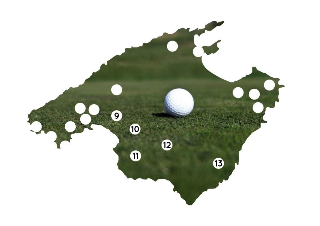 Die Golfplätze im Südosten Mallorcas im Überblick