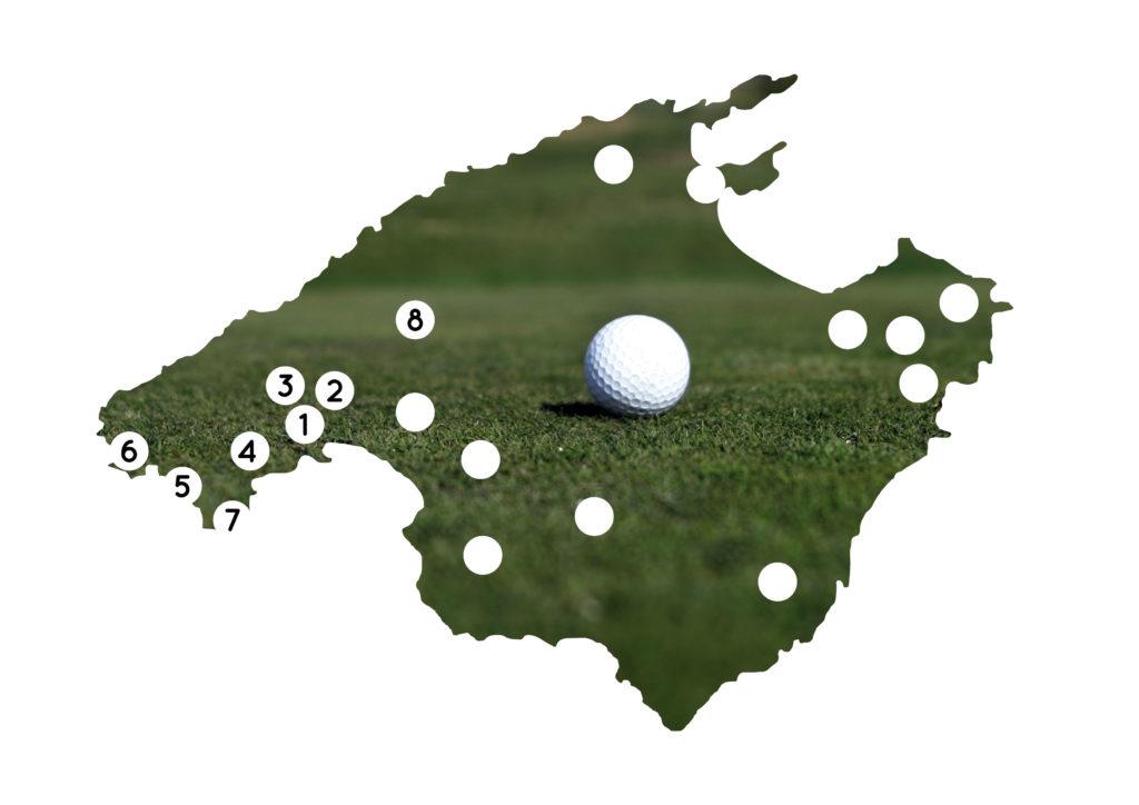 Die Golfplätze im Südwesten Mallorcas im Überblick